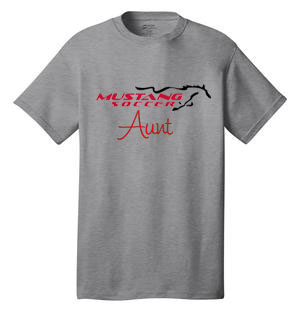 Mustang Soccer Aunt T-Shirt Image