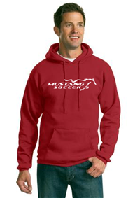 Mustang Soccer Red Pull Over Hoody