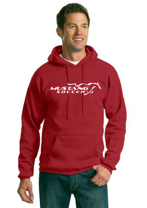 Mustang Soccer Red Pull Over Hoody Image