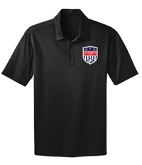SRFC SILK TOUCH PERFORMANCE POLO BLACK