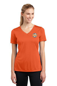 SPORT TEK WOMEN'S SS ORANGE