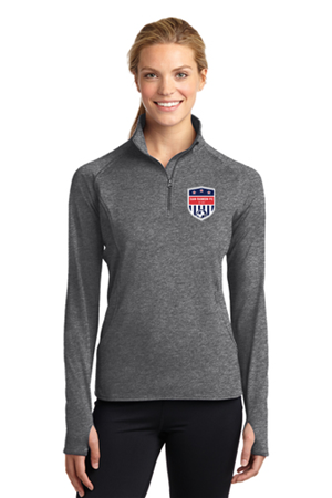 SRFC Ladies 1/4 Zip Pullover Grey Image