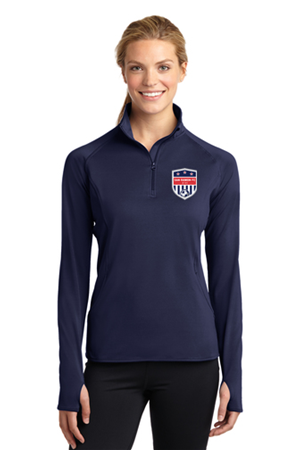 SRFC Ladies 1/4 Zip Pullover Navy Image
