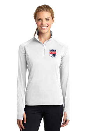 SRFC Ladies 1/4 Zip Pullover White Image