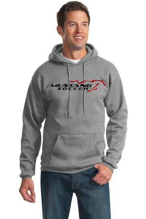 Mustang Soccer Grey Pull Over Hoody Image